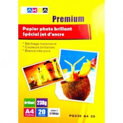 Papier Photo Brillant A3 20 Feuilles