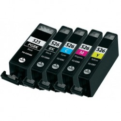 Grossist'Encre Cartouches compatibles PGI525 / CLI526 CANON Pack de 5