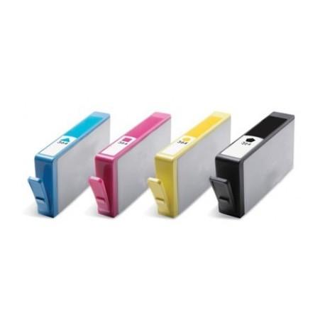 Grossist'Encre Pack de 4 Cartouches compatibles HP n°364XL