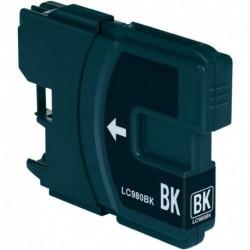 Grossist'Encre Cartouche Compatible BROTHER LC1100BK / LC980BK Noir