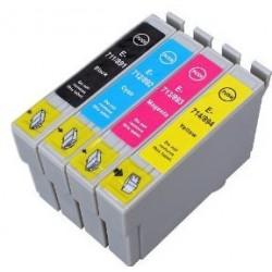Grossist'Encre Pack de 4 Cartouches compatibles EPSON T0715