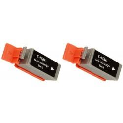 Grossist'Encre Pack de 2 Cartouches Noir compatibles CANON BCI15BK