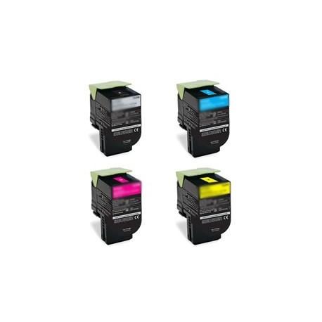 Grossist'Encre Lot de 4 Cartouches Toners Lasers Hautes Capacités Compatibles pour CX310 / CX410 / CX510 BK/C/M/Y